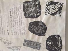 Maya Mexican culture designs.