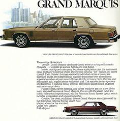 1981 Mercury Grand Marquis Sedan and Coupe Ford Ltd, Edsel Ford, Car Ford, Mercury Marquis, Mercury Cars, Grand Marquis, Ford Lincoln Mercury, Car Advertising, Us Cars