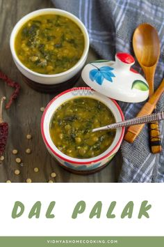 Quick one-pot lentils and spinach curry or the Dal Palak made in Instant Pot with green lentils. A perfect gravy for those busy weekdays! #dalpalak #palak #instantpot #greenlentils #indianrecipe #vegetarian #healthy | vidhyashomecooking.com @srividhyam Healthy Side Dishes, Side Dish Recipes, Dinner Recipes, Amazing Vegetarian Recipes, Delicious Vegan Recipes, Coconut Curry Chicken Soup, Vegetarian Appetizers, Vegetarian Food, Spinach Curry