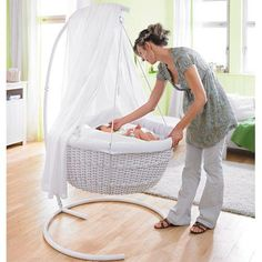 This little bassinet is so cute! Perfect for a new born!