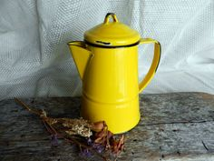 Cute Vintage French Country Decor Yellow by TheGreenwichTeacup, $24.00