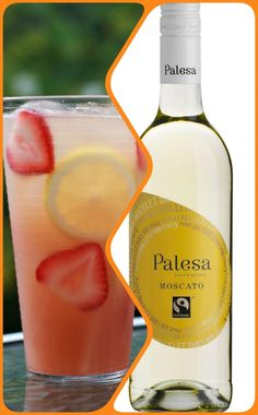 Moscato Cocktail: Blend together 4 strawberries, 1 teaspoon of sugar, 1 sprig basil and 3 teaspoons of lemon juice. Fill a tall glass with ice and Moscato. Pour cocktail mix over the Fairtrade Moscato, add lemon and a bendy straw, and ENJOY. Cocktail Mix, Amazing Recipes, International Recipes, Mixed Drinks, Recipe Using, Fair Trade, Strawberries, Basil, Juice