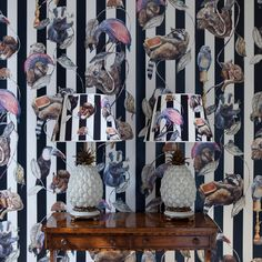 HACKNEY EMPIRE Wallpaper Midnight Stripe