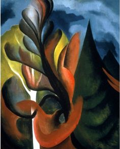 Maple and Cedar, Lake George (1922) by Georgia O'Keeffe