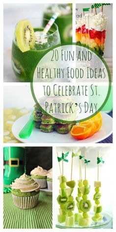 20 Healthy and Fun Food Ideas for St. Patrick's Day - 20 Fun and Healthy Food Ideas to Celebrate St. Patrick's Day – Super Healthy Kids 20 Fun and He - Dinners For Kids, Kids Meals, Healthy Holiday Recipes, Healthy Food, Dinner Healthy, St Patrick Day Snacks, Fun Food, Good Food, Yummy Food