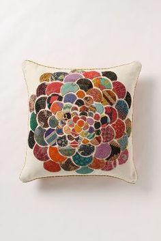 Orimono Pillow, Flower