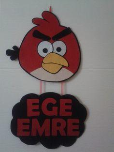 Keçe Angry Bird kapı süsü(dolgusuz)