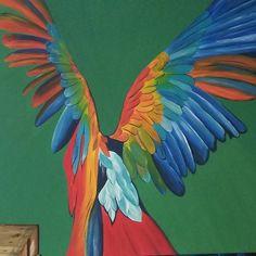 Vogelfrei • 150x150 cm • acryl on canvas • 2015 • verkauft Parrot, Bird, Animals, Kunst, Parrot Bird, Animales, Animaux, Birds, Animal