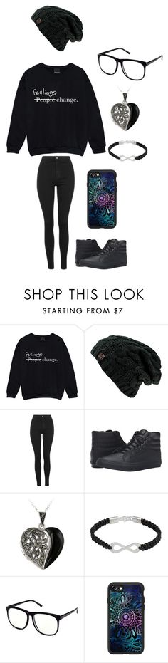 """""""Untitled #135"""" by darksoul7 on Polyvore featuring Topshop, Vans, Glitzy Rocks, NOVICA, H&M and Casetify"""