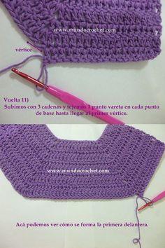 Como tejer un saco, campera, cardigan o chambrita a crochet o ganchillo desde el canesu09