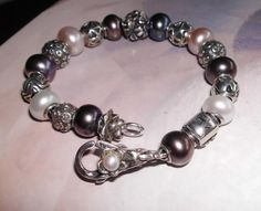 Pearls with small Silver....