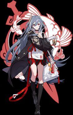 Game Character Design, Fantasy Character Design, Character Design References, Character Art, Anime Warrior, Anime Demon, Samurai, Anime Blue Hair, Anime Krieger