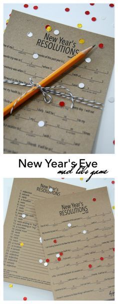 New Year's Eve | Play this fun New Year's Eve Game based on the Mad Libs games you played growing up. Free Printables provided for your New Year's Eve fun!