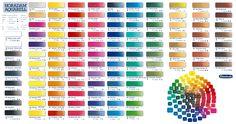 My Favourite W/C Paints so pure Paint Color Chart, Color Mixing Chart, Paint Colors, Color Charts, Watercolor Mixing, Watercolour Painting, Watercolours, Amsterdam Art, Blond Amsterdam