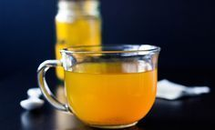 Has honey, cinammon, ginger, and peppermint tea for fighting cough and colds. Keeps you smart & healthy too! Ginger And Honey, Ginger Tea, Raw Honey, Turmeric Water, Turmeric Supplement, Water In The Morning, Turmeric Recipes, Peppermint Tea, Tea Recipes