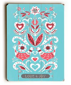 Look at this 'Love & Joy' Wall Art on #zulily today!
