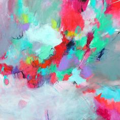 Expressionist Abstract Painting Mixed by kerriblackmanfineart