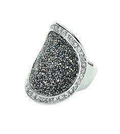 Dyrberg/Kern Ring - Carly Silver & Grey 95 euro www.luxedy.com