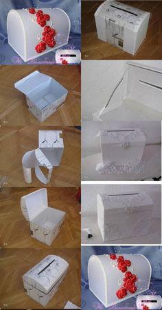 Pudełko ślubne na koperty! Wykonajcie je sami!