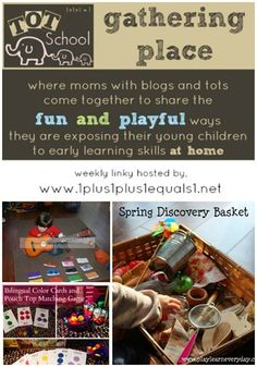 Tot School Gathering Place ~ Spring Discovery Basket, Teaching Colors and more!
