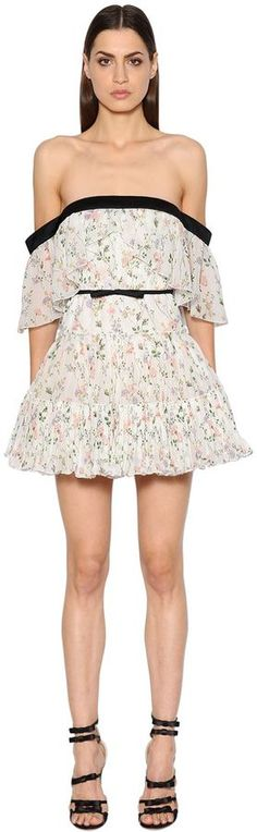Off The Shoulder Printed Georgette Dress | #Chic Only #Glamour Always