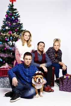 The Carter family at Christmas #Eastenders 2014