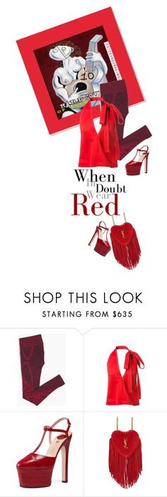 """""""r e d"""" by vinograd24 ❤ liked on Polyvore featuring Abba, Chloé, Gucci and Yves Saint Laurent"""