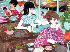 Laura Callaghan y sus chicas con texturas