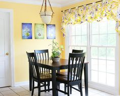 Color of kitchen and dining room Jonquil by Sherwin Williams - Our First Home Tour | www.kevinandamanda.com