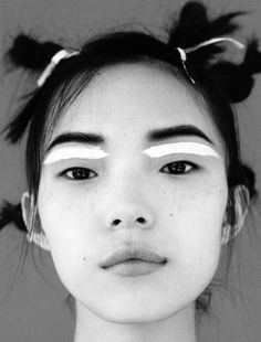 model: Xiao Wen Ju in i-D Magazine Fall 2014 photographed by Angelo Pennetta Styling: Poppy Kain Hair: Luke Hersheson Make-up: Lucia Pica Makeup Inspo, Makeup Art, Hair Makeup, Makeup Ideas, Makeup Style, Makeup Tips, Makeup Quiz, Makeup Names, Retro Makeup
