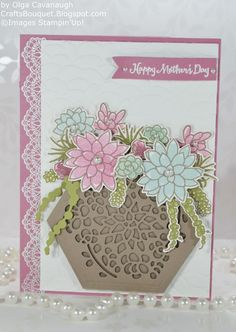 Hello and Welcome! In this issue I am sharing a Mother's Day Card and Gift Box made with the Oh So Succulent Bundle item # 145184 and Win...