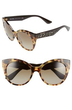 Miu Miu 55mm Cat Eye Sunglasses available at  Nordstrom Oculos De Sol,  Óculos De bb6361349d