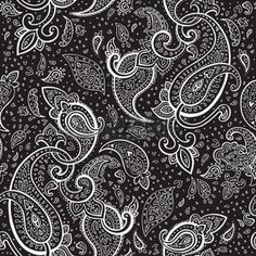 paisley wallpaper: Seamless Paisley background  Hand Drawn vector pattern