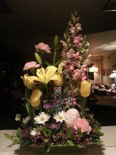 easter flower arrangements | Easter Floral Arrangement | Floral Design | Pinterest