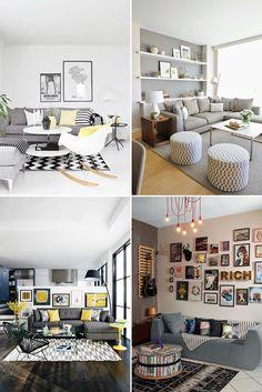 Sofá cinza na decoração da sala de estar - Casinha Arrumada