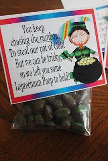 Leprechaun Poop Free Printable