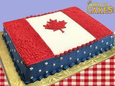 This is what happens when cousins from Canada and United States reunite & celebrate the long weekend together. Canada 150, Sheet Cakes, Long Weekend, Fourth Of July, Cousins, United States, The Unit, Shit Happens