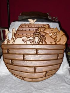 Limited Edition Wooden Carved Noahs Ark