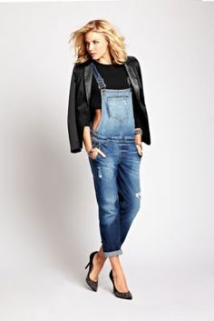 Classic Denim Overalls | GUESS.com Throw it back to one of denim's most iconic looks with these trend-topping overalls. Heavyweight stretch denim teams with a distressed wash and destroyed details to create a worn-in, vintage-inspired style that's in high demand. Work them into your layered looks for must-have retro appeal. Relaxed slim fit. Stretch. Adjustable straps. Bib pocket plus two hip pockets and two back pockets. Crisscross back. Side button closures at waist. Two suspender buckles.
