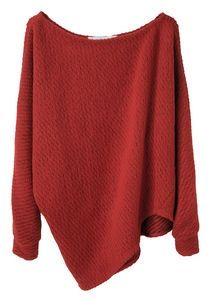 Thakoon Addition / Textured Knit Pullover by DaisyCombridge Pull Crop Top, Red Sweaters, Oversized Sweaters, Long Sweaters, Oversized Shirt, Pullover Sweaters, Look Fashion, Fall Fashion, Autumn Winter Fashion