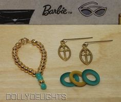 1964 Repro Jewelry - Arabian Nights Jewelry Set Made For Vintage Barbie Repro 874 DollyDelights