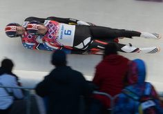 £/ Description of . Christian Niccum and Jayson Terdiman of USA in their first run of the Luge Doubles at Sliding Center Sanki at the Sochi 2014 Winter Olympics 2014, Luge, Fun Shots, Christian, Running, Games, Sports, Hs Sports, Sport
