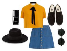 """Hipster"" by katrenn on Polyvore featuring HUGO, Vans, Maison Michel and Chanel"