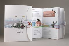 Creating brochure is a major marketing technique used by companies of varied field and genres. Brochure is an advanced way of keeping your clients informed. With elegant brochure designs you can pe… Corporate Brochure Design, Creative Brochure, Brochure Layout, Text Layout, Company Brochure, Creative Flyers, Brochure Cover, Travel Brochure, Business Brochure