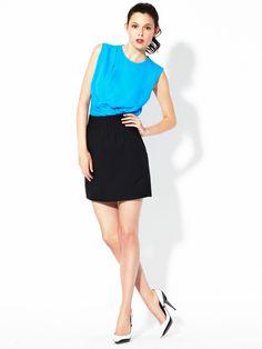 Seira Pintucked Skirt by Diane von Furstenberg on Gilt.com