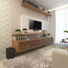 Arch Interior, Interior Design, Tv Stand Console, Girl Birthday Decorations, Office Inspo, Love Home, Tv Unit, Little Houses, Wood Design