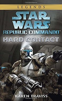 """Buy Star Wars: Republic Commando - Hard Contact by Karen Traviss at Mighty Ape NZ. """"As the Clone Wars rage, victory or defeat lies in the hands of elite squads that take on the toughest assignments in the galaxy-stone-cold soldi. Used Books, Books To Read, Jedi Ritter, Star Wars Video Games, Saga, Republic Commando, Elite Squad, Star Wars Books, Movies"""