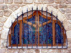Blue window in Tel Aviv-Jaffa, Israel by Heike Jestram