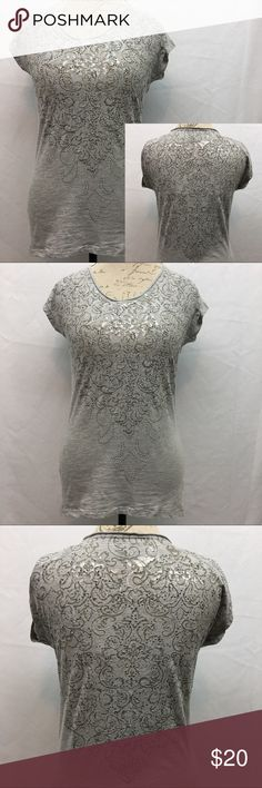 """Maurice's Premium Studded Top Maurice's Premium studded top. Heathered gray with raw edging around the collar. NWOT no flaws condition. Size S. Armpit to armpit 18"""". Shoulder to bottom hem in back 28 1/2"""", front 25"""". Maurices Tops Tees - Short Sleeve"""