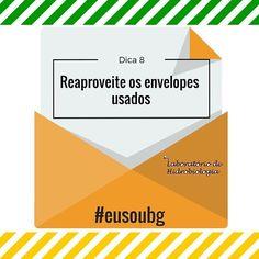 Eles podem ser usados para guardar documentos cartas contas e outros papéis. #eusoubg #baiadeguanabara #labhidroufrj #ufrj #riodejaneiro #errejota #agua #analisedeagua #papel #envelope #reutilizar #reciclar